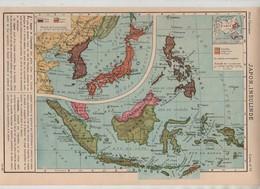 Japon Insulinde Corée Sarawak 1949 Célèbes Bornéo Sumatra Moluques Timor La Sonde Mindanao Philippines... - Cartes