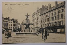 Cpa Metz Neumarkt Place St Simplice 1909 - NAS07 - Metz
