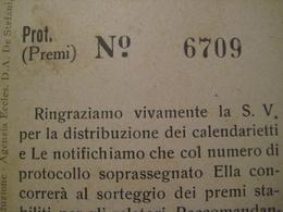 CARTOLINA RAVENNA INTERESSANTE RIFERIMENTO A CALENDARI SORTEGGIO PREMI NUMERO - Lottery Tickets