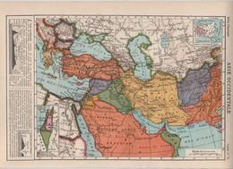 Asie Occidentale 1950 Turquie Syrie Mésopotamie Royaume Arabe Saoudien Iran Afghanistan Israel Palestine... - Cartes