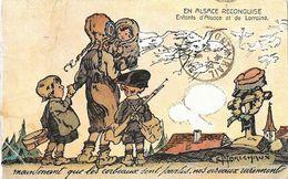 En Alsace Reconquise, Enfants D'Alsace Et De Lorraine, Illustration Maréchaux: Maintenant Que Les Corbeaux Sont Partis.. - Patriottisch