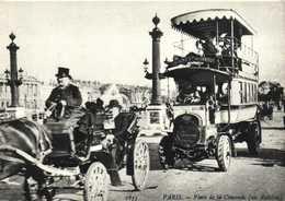 PARIS Place De La Concorde Un Autobus à 2 Etages RV Edit F Nugeron - Transport Urbain En Surface