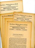 Berliner Philatelisten Klub Von 1888 - Nr. 1 Bis 6 Jahrgänge 1948/9 - Deutsch (ab 1941)