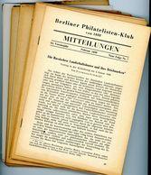 Berliner Philatelisten Klub Von 1888 - Nr. 7 Bis 11 Jahrgänge 1950 - Deutsch (ab 1941)