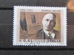 *ITALIA* USATI 2003 - 50° MORTE EUGENIO BALZAN - SASSONE 2698 - LUSSO/FIOR DI STAMPA - 6. 1946-.. Repubblica