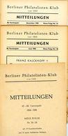 Berliner Philatelisten Klub Von 1888 - Nr. 20 Bis 21 Jahrgang 1955 - Deutsch (ab 1941)