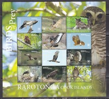 Rarotonga 2018 Birds Of Prey Falcons Owls Etc Klb MNH - Owls