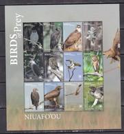 Niuafoou 2018 Birds Of Prey Falcons  Etc Klb MNH - Owls