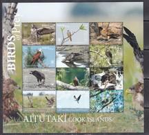 Aitutaki 2018 Birds Of Prey Falcons Etc Klb MNH - Owls