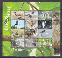 Cook 2018 Birds Of Prey Falcons Owls Etc Klb MNH - Owls