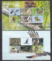 Rarotonga 2018 Birds Of Prey Falcons Owls Etc 2 Klb MNH - Owls