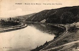 FUMAY -08- BOUCLE DE LA MEUSE VUE PRISE DES AURAINS - Fumay