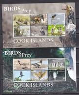 Cook Islands 2018 Birds Of Prey Falcons Owls Etc 2 Klb MNH - Owls