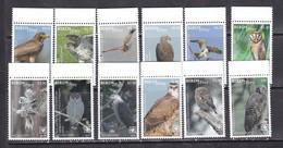 Niuafoou 2018 Birds Of Prey Falcons Owls Set Of 12v MNH - Owls