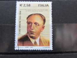 *ITALIA* USATI 2003 - CENTENARIO EZIO VANONI - SASSONE 2696 - LUSSO/FIOR DI STAMPA - 6. 1946-.. Repubblica