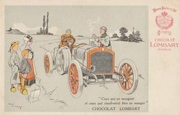CPA Publicitaire - Chocolat LOMBART - Automobile ( Illustrateur René Vincent ) - Pubblicitari
