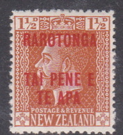 Cook Islands  SG 57 1919 Three Half Penny Orange Brown MNH - Cook