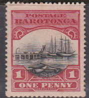 Cook Islands  SG 82 1924 1d Black And Carmine Mint - Cook Islands