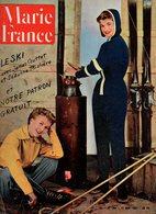Marie France N°364 Le Ski Avec James Couttet Et Suzanne Thiolière - Une étoile M'a Dit - La Timidité - Georges Peclet - Books, Magazines, Comics