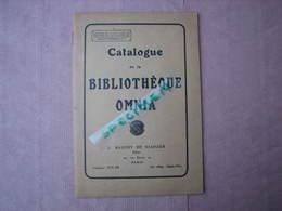 """Catalogue De La Bibliothèque OMNIA 1911 """"manuel Juridique De L'automobiliste,un Tour De Manivelle Et L'on Part, Etc... - Automobile"""