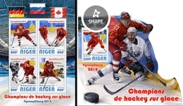 Niger 2018, Winter Olympic Games In Pyeongchang Winners, Hockey, 4val In BF+BF - Niger (1960-...)