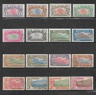 Colonies Timbres De Réunion De 1907/17 N°56 A 71 Complet ( 5 Timbres Oblitérés) - Neufs