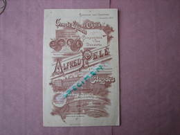 ANGERS Maison A. Pelé 1896 Vins, Epicerie De Choix, Marée , Confiserie,Pates, Conserves - 1800 – 1899