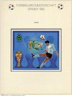 Championat ESPANA 1982 Libya Block 61 Imperf.** 10€ Fußball-WM Spieler Hoja S/s Bloc Sheet M/s FIFA Football Soccer - Libye