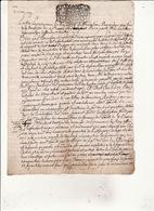 Gen Auch 14 Avril 1698 Concerne Le Bois De Samouillan  3 Scans - Cachets Généralité