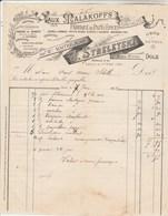 Facture Illustrée 7/6/1898 J STRELETSKI Pain D' épices Aux Malakoffs DOLE Jura - 1800 – 1899
