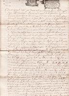 GEN  Montauban 13 Sept 1696 Concerne Les Communes De Cier Et Pointis 4 Scans - Cachets Généralité