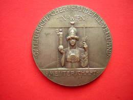 MAIDAILLE SIGNEE R PLACHT  OSTERREICHISCHER HANBALL VERBAND IN WIEN  MEISTER 1932 / 1933 - Jetons & Médailles