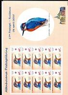 Belgie Duostamp Ijsvogel FULL SHEET Grand Format RR SPAB Attenhoven Buzin Birds - 1985-.. Oiseaux (Buzin)