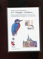 Belgie Duostamp Ijsvogel Herdenkingskaart Format A5  RR SPAB Attenhoven Buzin Birds - 1985-.. Oiseaux (Buzin)