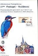 Belgie Duostamp Ijsvogel Herdenkingskaart Format A4  RR SPAB Attenhoven Buzin Birds - 1985-.. Oiseaux (Buzin)