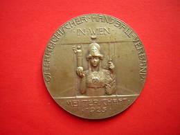 MAIDAILLE SIGNEE R PLACHT  OSTERREICHISCHER HANBALL VERBAND IN WIEN  MEISTERSCHFT 1925  DAMEN MEISTER VON OSTERREICH - Jetons & Médailles