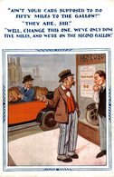 AIN'T YOUR CARS SUPPOSED TO NO FIFTY MILES TO THE GALLON? - Humor