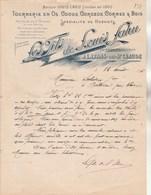 Lettre Facture Illustrée 12/8/1896 Louis LAHU Tournerie Os, Cornes Hochets Porte Cigarettes LAVANS Les St Claude Jura - 1800 – 1899