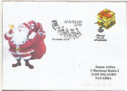 CC CON MAT PRIMER DIA FDC NAVIDAD SANTA CLAUS TRINEO CHRISTMAS - Navidad