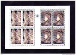 Bloc 1997  De 4X2  Timbres Grottes Stalactites YT 238/239 Neufs /  Sheet 1997 Mint Mi 280/281 Höhlen - Blocs-feuillets