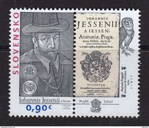 Slovaquie 2016 450° Anniversaire De JAN JESSENIUS Philosophe Médecin - Slovaquie