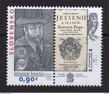 Slovaquie 2016 450° Anniversaire De JAN JESSENIUS Philosophe Médecin - Slovakia
