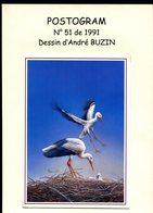 Belgie Buzin Vogels Birds POSTOGRAM OOIEVAAR RRR + Repro Dessin En Grand Format A4 - 1985-.. Oiseaux (Buzin)
