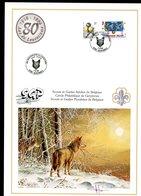 Belgie Buzin Vogels Birds Carte Gerpinnes Scouts + Loup 7/9/1996 En Grand Format A4 - 1985-.. Oiseaux (Buzin)
