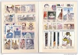 Année 1991 Complète YT 2874 / 2908  Neuf Sans Charnière / Mi 3074 / 3108  Mint - Tchécoslovaquie