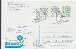 57-926 Estonia Tartu Ski Marathon Postcard 09.02.1997 - Estonie