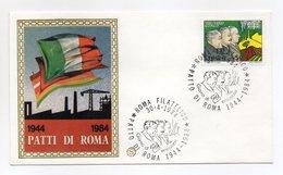 Italia - 1984 - Busta FDC Filagrano - 1944-1984 Patti Di Roma - Con Doppio Annullo Roma  - (FDC13762) - F.D.C.