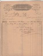 Facture Illustrée 20/6/1867 CLERTAN Chaussures Brides Sabots Brodequins Chaussons  LONS LE SAUNIER Jura - 1800 – 1899