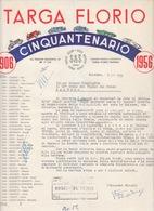 Lettera Targa Florio Palermo 1956-Sicily Italy Italia - Documenti Storici