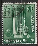 PAKISTAN   1962 Small Industries USED  Sports Goods / Green - Briefmarken